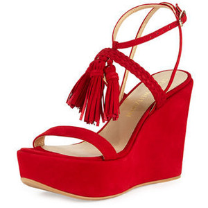 ce6fa62bdfc Red Wedge Sandals