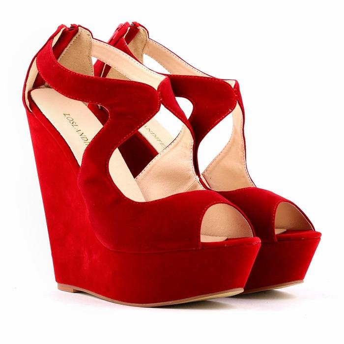a3326da4584f Red Wedge Sandals