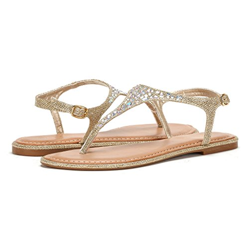 45686313683f Rhinestone Flat Sandals Pictures