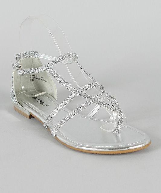 Rhinestone Flat Sandals Craftysandals Com