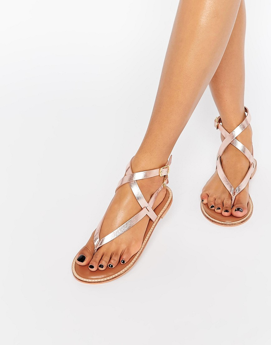 Rose Gold Sandals Craftysandals Com