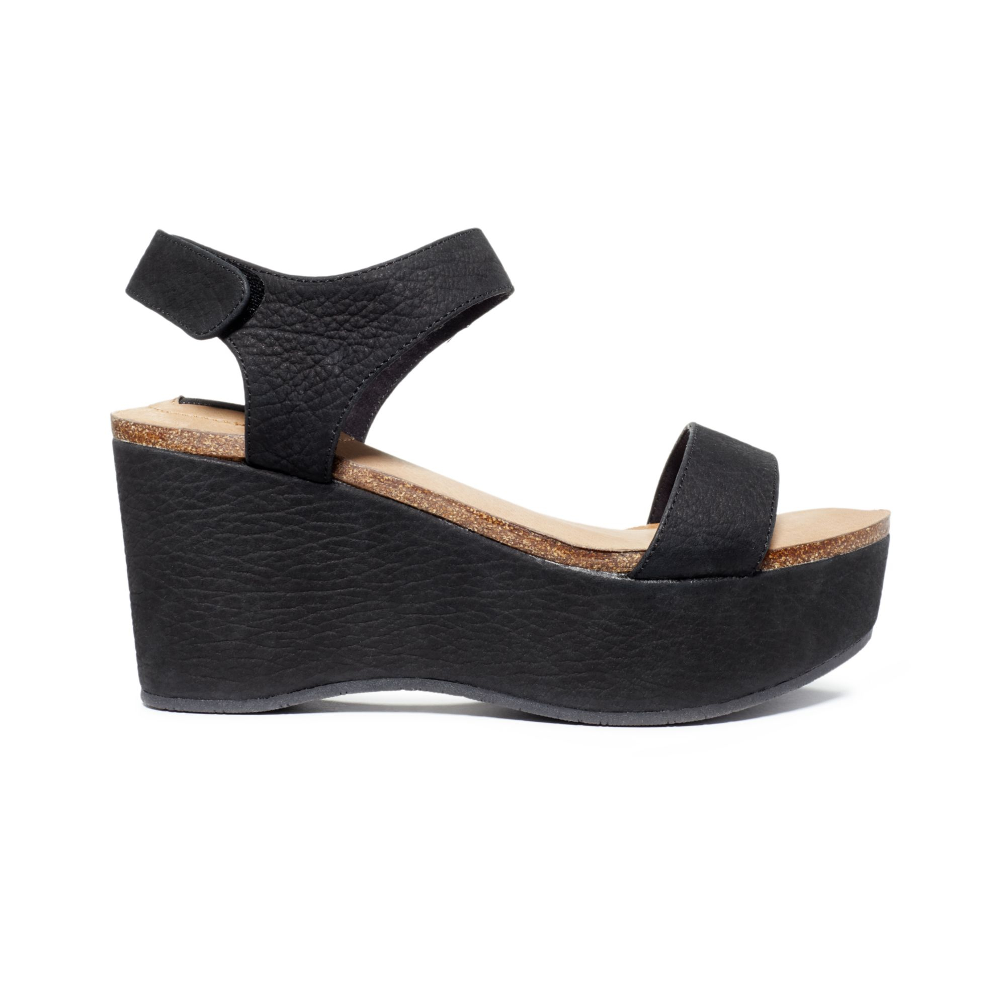 4a9f6c10bee Black Platform Wedge Sandals