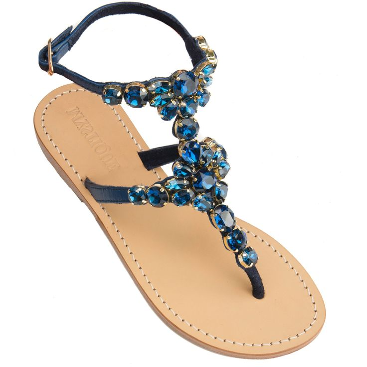 f52eaf5da Blue Jeweled Sandals