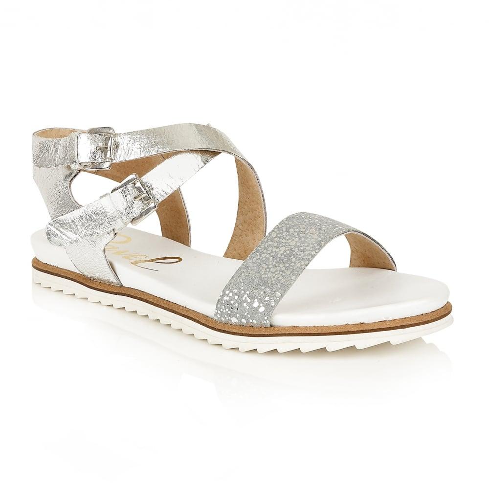 a061f7c14 Silver Flat Sandals