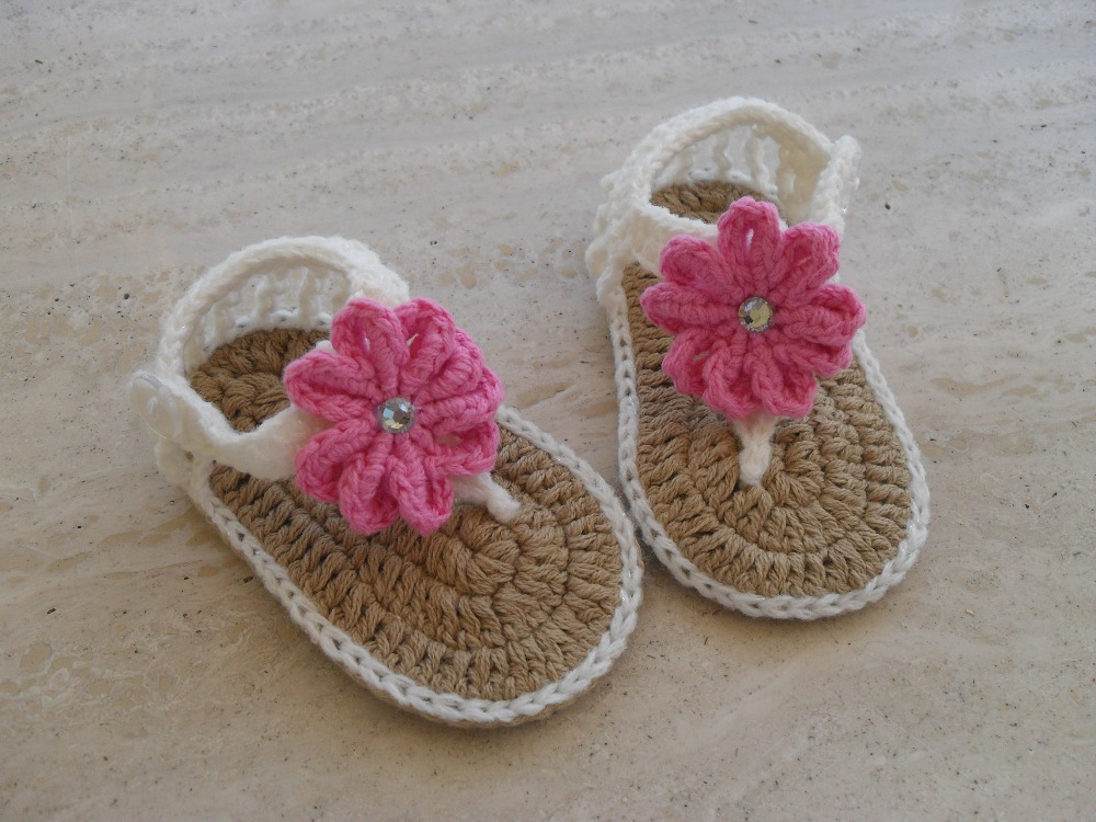 37540126322e5 Crochet Baby Sandals Baby Girl Sandals Pink and gray
