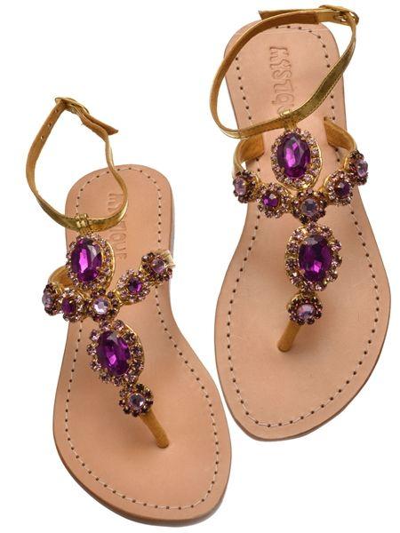 5fb10fb5ef160d Jeweled Flat Sandals
