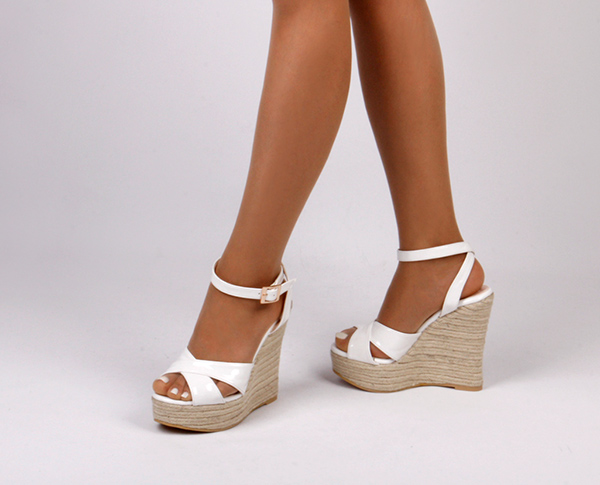 ba2986e4a White Wedge Sandals for Women