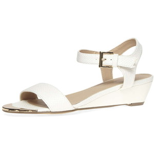 c07be0c543d Low Wedge White Sandals