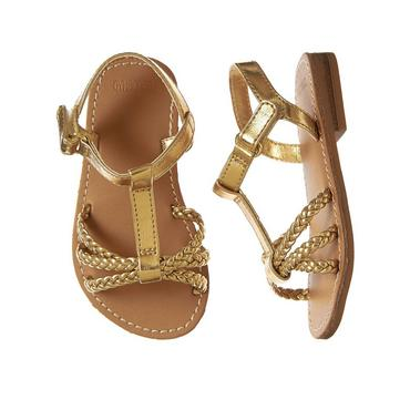 2b8da1a9d241e Toddler Girl Gold Sandals