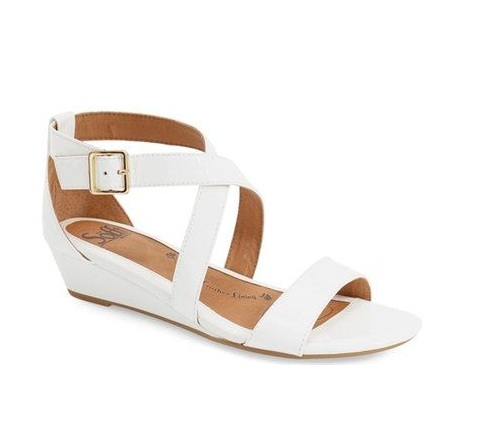 cf76cc89b89 White Low Wedge Sandals