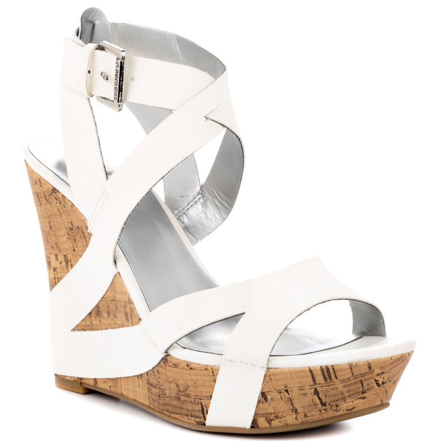White Wedge Sandals | CraftySandals.com