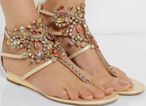 Photos of Flat Rhinestone Sandals