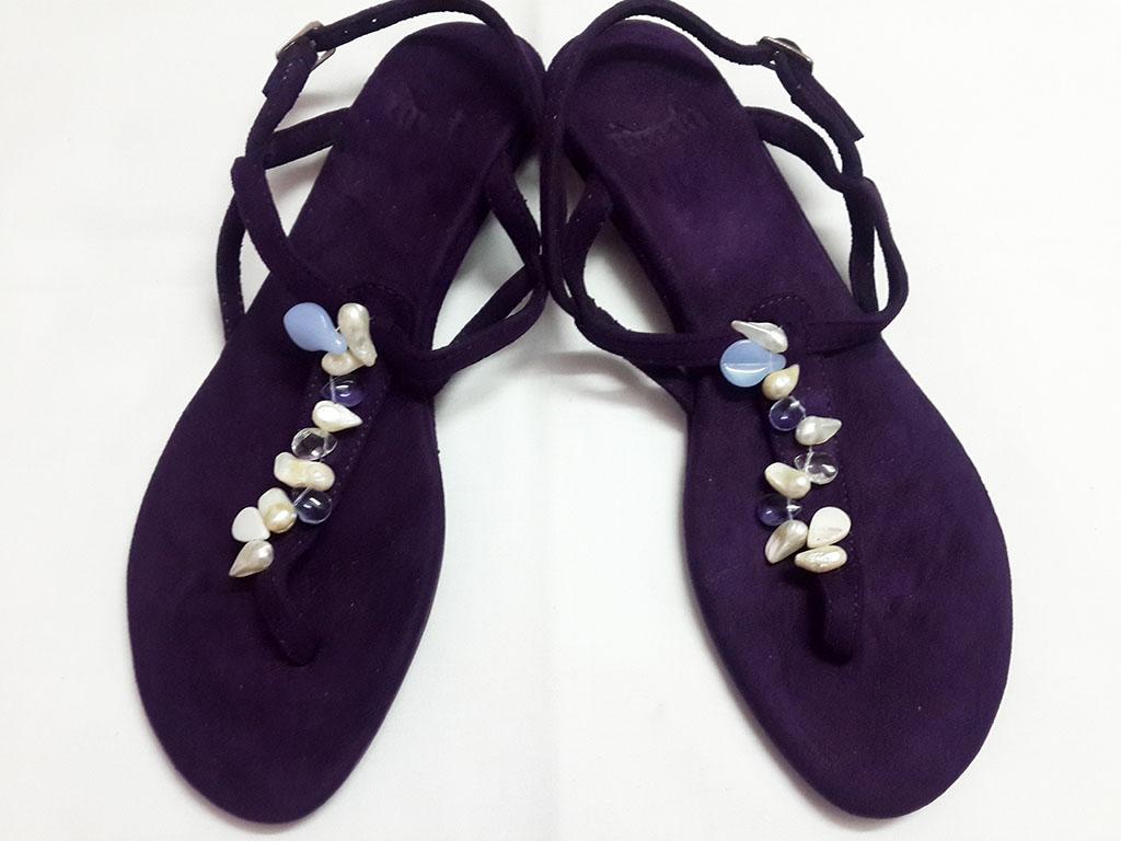 fdb17663de5c74 Dark Purple Sandals