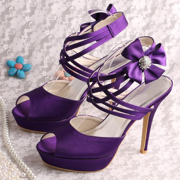 e17328c9dd58ba Purple Platform Sandals