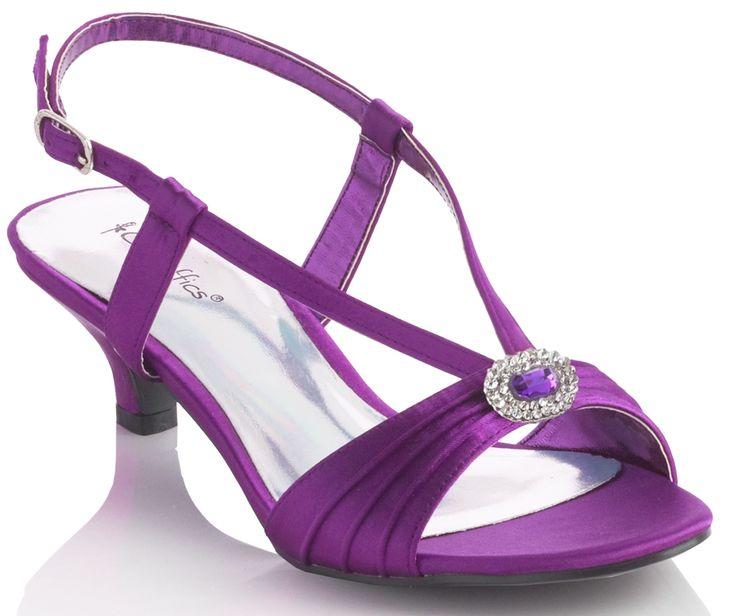 Purple Heel Sandals