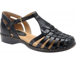 Black Closed Toe Sandals