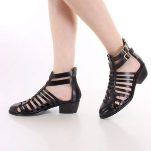 Black Closed Toe Sandals Pictures