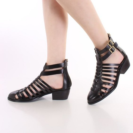 Black Closed Toe Sandals