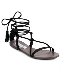 Black Lace Up Sandals Images