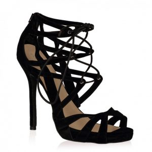Black Lace Up Sandals Photos