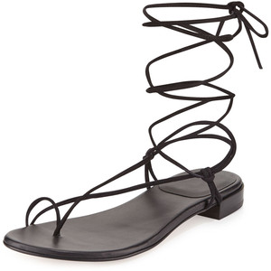 Black Lace Up Sandals Pictures