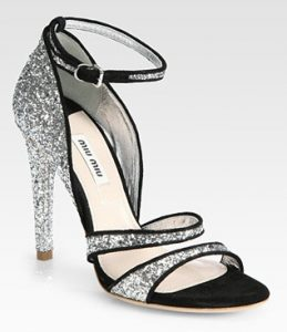 Black and Silver Sandals Images