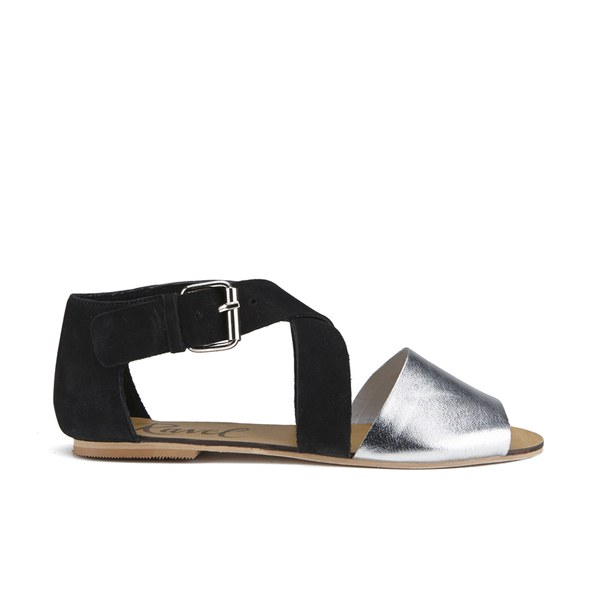 Black and Silver Sandals