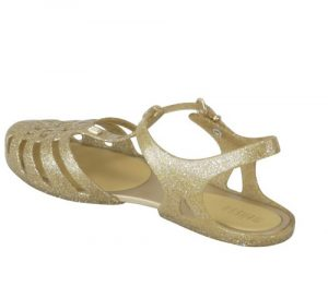 Gold Jelly Sandals Photos