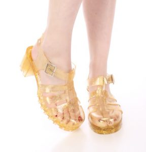 Gold Jelly Sandals Pictures