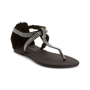 Images of Black and Silver Sandals