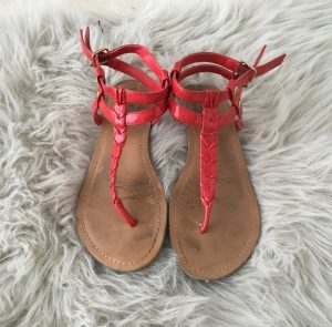 Images of Red Thong Sandals