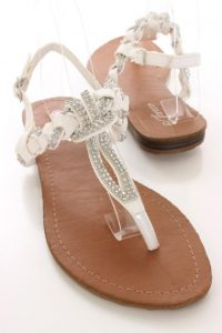 Images of White Rhinestone Sandals