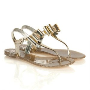 Jelly Gold Sandals