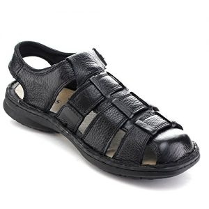 Mens Black Sandals Closed Toe
