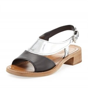 Pictures of Black and Silver Sandals