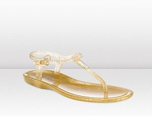 Pictures of Gold Jelly Sandals