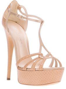 Platform Sandals Nude