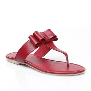 Red Thong Sandals Photos