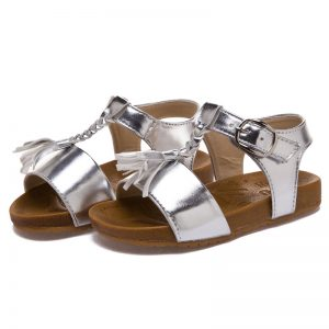 Silver Toddler Sandals