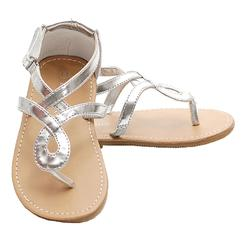 Silver Toddler Sandals Images