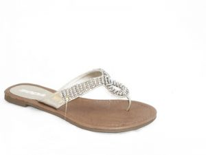White Rhinestone Sandals Pictures