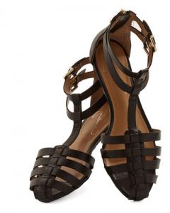 Black Flat Closed Toe Sandals