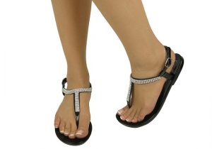 Black Rhinestone Sandals Pictures