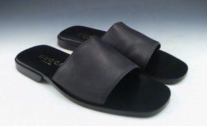Black Slides Sandals