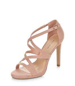 Blush Pink Strappy Sandals