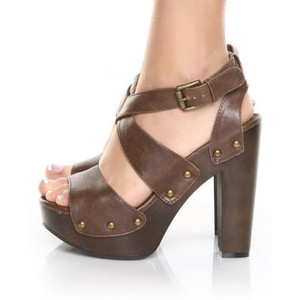 Brown Platform Sandals Photos