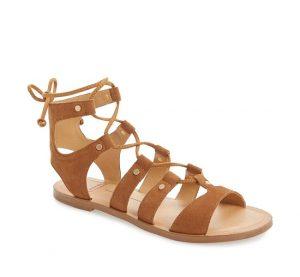 Brown Suede Gladiator Sandals
