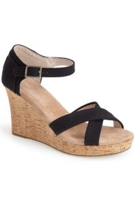 Canvas Ankle Strap Wedge Sandal