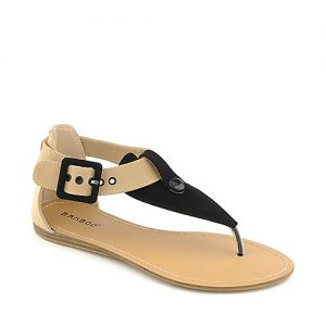 Flat T Strap Thong Sandals