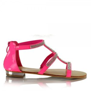 Hot Pink Flat Sandals